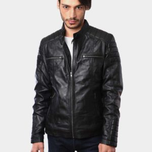 Mens Fashion Bikers Real Leather Jacket