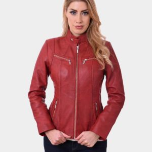 Women Bikers Real Leather Jacket