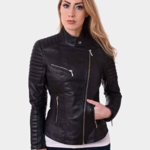 Women Bikers Real Style Lambskin Leather Jacket