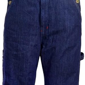 Men's Denim Dungarees Jeans Bib and Brace Overall Pro Heavy Duty Workwear Pants